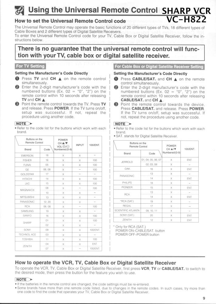 sharp-vcr-remote-codes-vc-h822